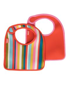 Built Infant Bib Baby Pink Stripe