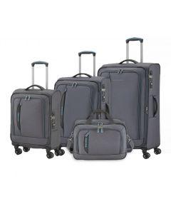Travelite CrossLITE 4w S,M,L Anthracite – sada 3 kufrů + BB