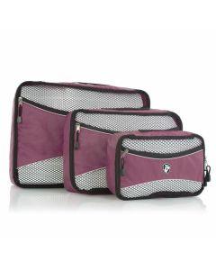 Heys Ecotex Packing Cube Set Lilac – sada 3 ks