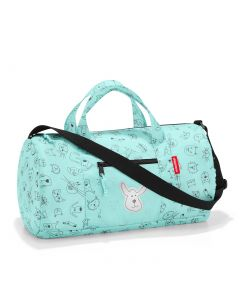 Reisenthel Mini Maxi Dufflebag Kids Cats and dogs mint