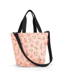 Reisenthel Shopper XS Kids Cats and dogs rose