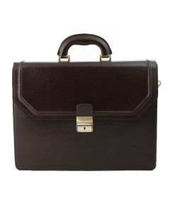 Monarchy Everyday Briefcase Rupert Dark brown