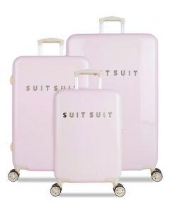 SUITSUIT TR-1221/3 sada 3 kufrů ABS Fabulous Fifties Pink Dust