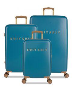 SUITSUIT TR-7102/3 Fab Seventies Seaport Blue – sada 3 kufrů