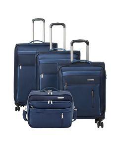 Travelite Capri 4w S,M,L Navy – sada 3 kufrů + BB