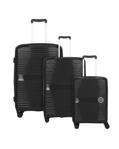 Travelite Ceris S,M,L Black – sada 3 kufrů