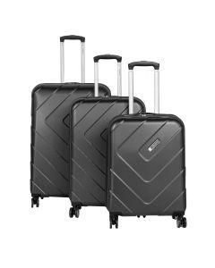 Travelite Kalisto S,M,L Anthracite – sada 3 kufrů