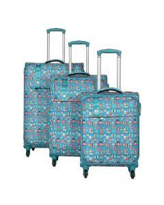 Travelite Lil' Ledy 4w S,M,L Turquoise – sada 3 kufrů