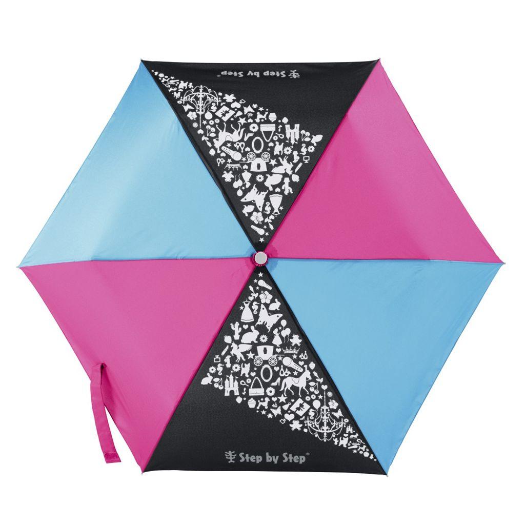 Dětský skládací deštník černá/ červená/ modrá