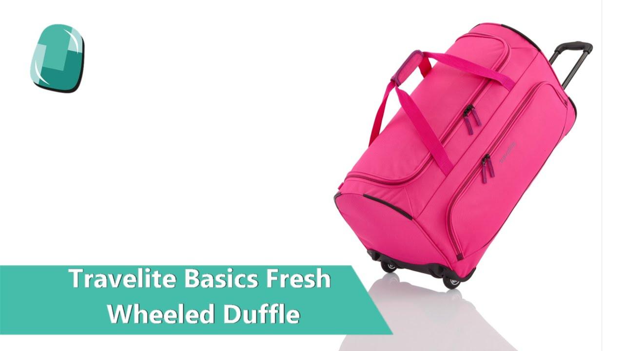 72e54919c4 Travelite Basics Fresh Wheeled Duffle