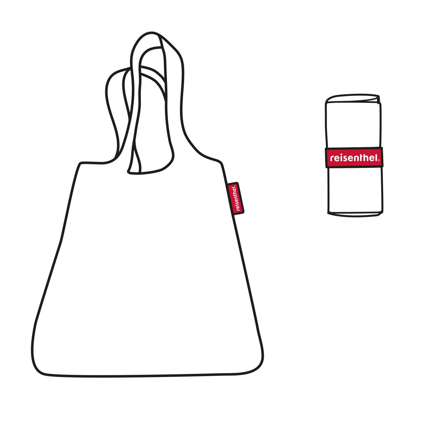Reisenthel Mini Maxi Shopper Azure Dots Nákupní taška, která šetří životní prostředí!  - dvě extra dlouhá ucha pro snadné nošení - rozměr po sbalení je 6 x 12 x 2 cm