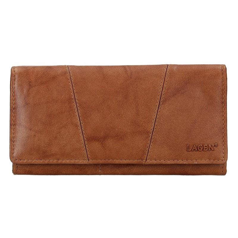 Lagen Dámská peněženka kožená PWL-388 Béžová
