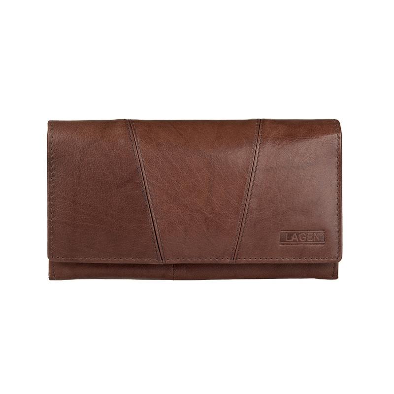 Lagen Dámská peněženka kožená PWL-388 Hnědá