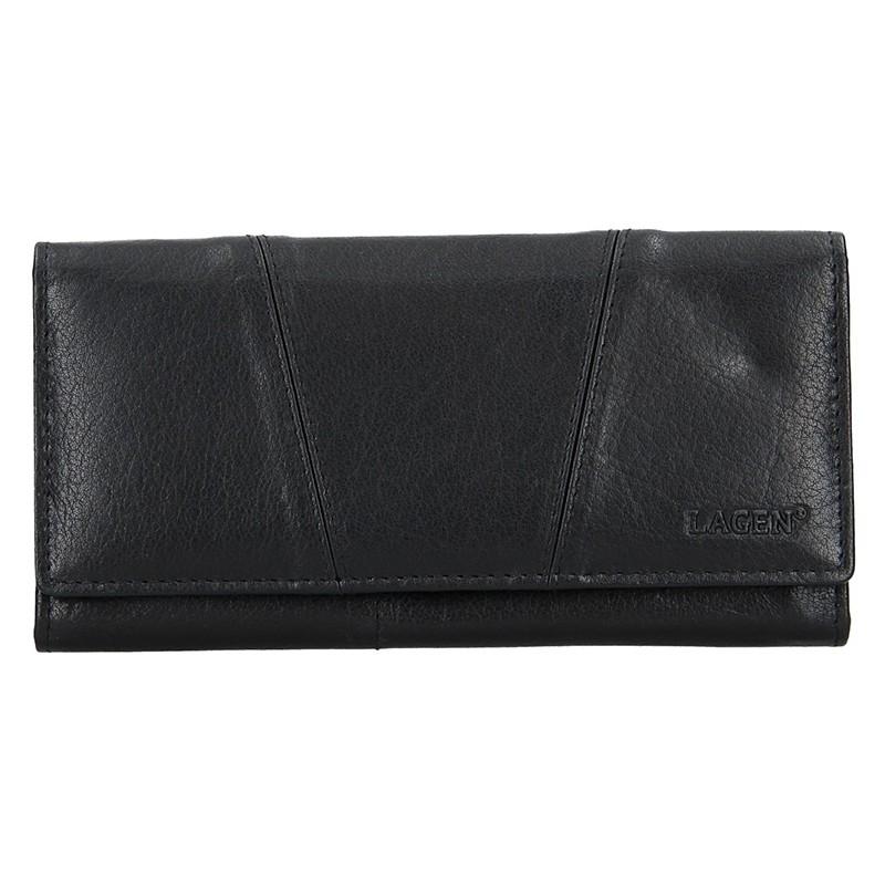 Lagen Dámská peněženka kožená PWL-388 Černá