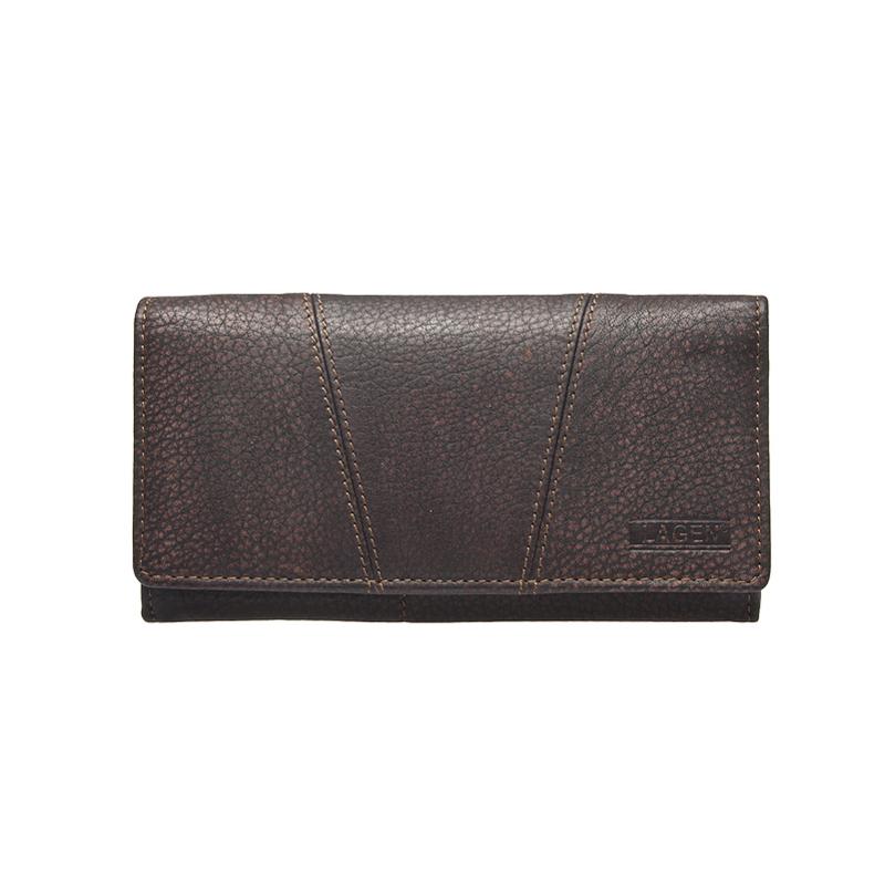Lagen Dámská peněženka kožená W-2025/W Hnědá