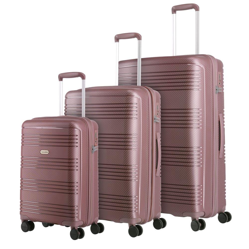 Travelite Zenit S,M,L Dark Rose – sada 3 kufrů
