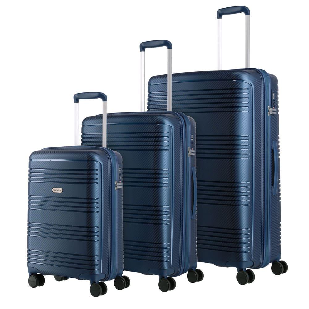 Travelite Zenit S,M,L Blue – sada 3 kufrů