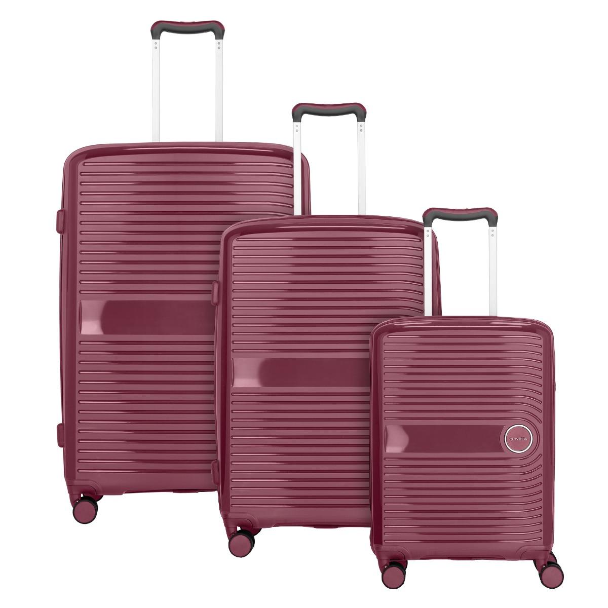 Travelite Ceris S,M,L Blackberry – sada 3 kufrů