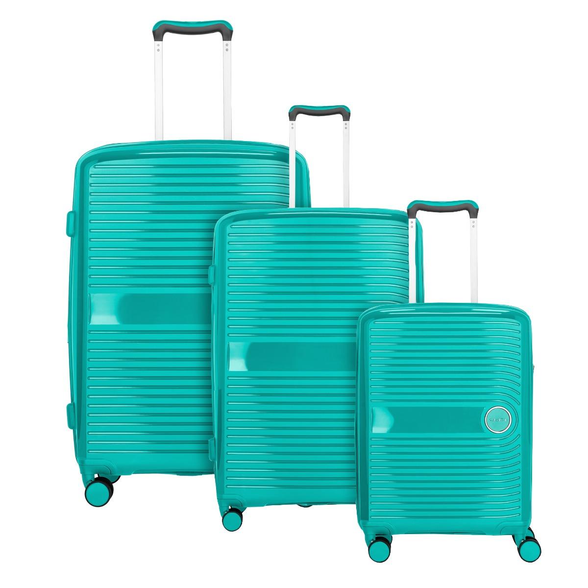 Travelite Ceris S,M,L Green – sada 3 kufrů