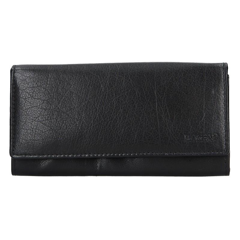 Lagen Dámská peněženka kožená V-102 Černá