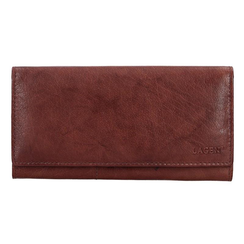 Lagen Dámská peněženka kožená V-102 Hnědá