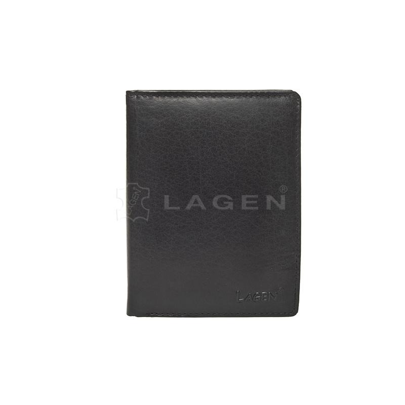 Lagen Pánská peněženka kožená V-26 Černá