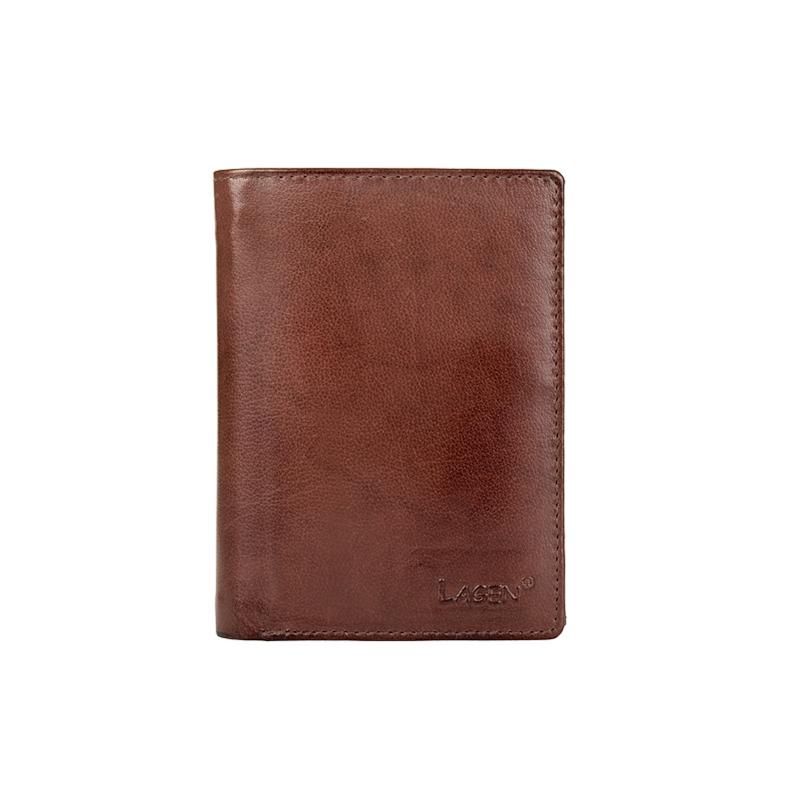 Lagen Pánská peněženka kožená V-26 Hnědá