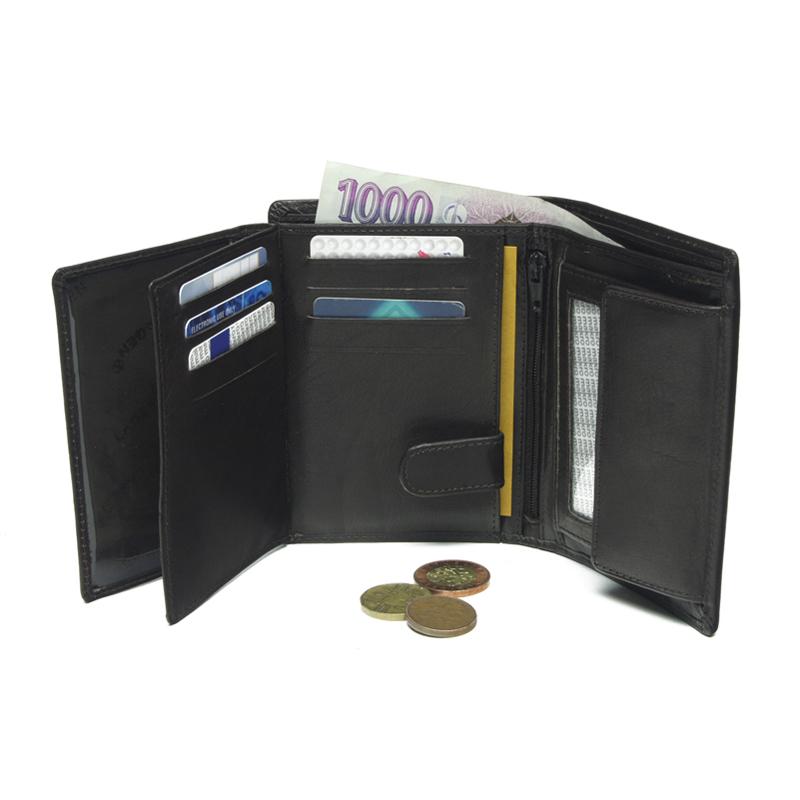 Lagen Pánská peněženka kožená V-26 Tmavě hnědá