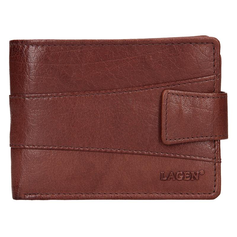 Lagen Pánská peněženka kožená V-98 Hnědá