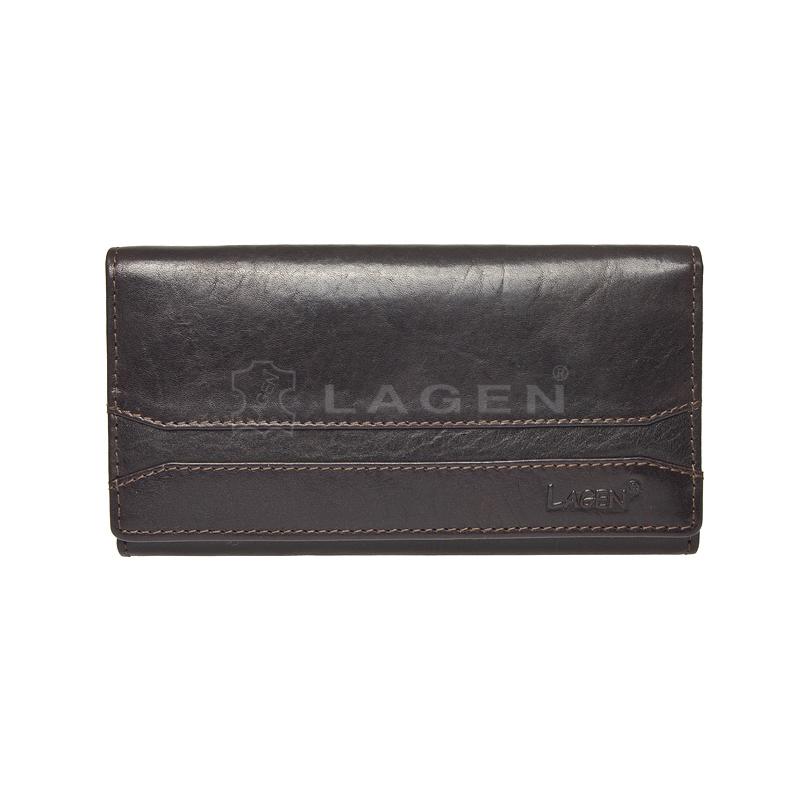 Lagen Dámská peněženka kožená W-2025/T Černá