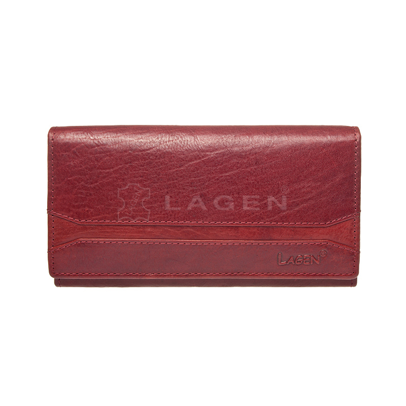 Lagen Dámská peněženka kožená W-2025/T Červená