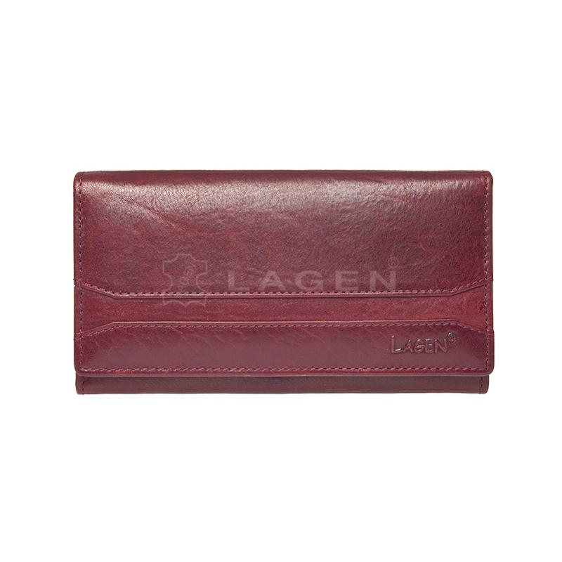 Lagen Dámská peněženka kožená W-2025/T Vínová