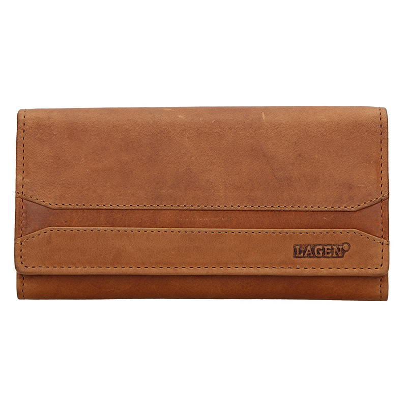 Lagen Dámská peněženka kožená W-2025/V Hnědá
