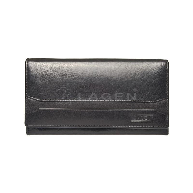 Lagen Dámská peněženka kožená W-2025 Černá