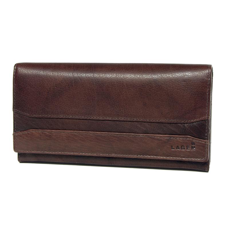 Lagen Dámská peněženka kožená W-2025 Hnědá