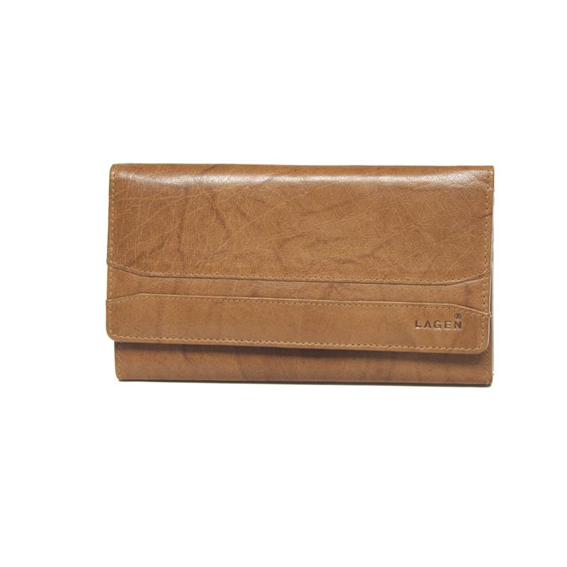 Lagen Dámská peněženka kožená W-2025 Světle hnědá
